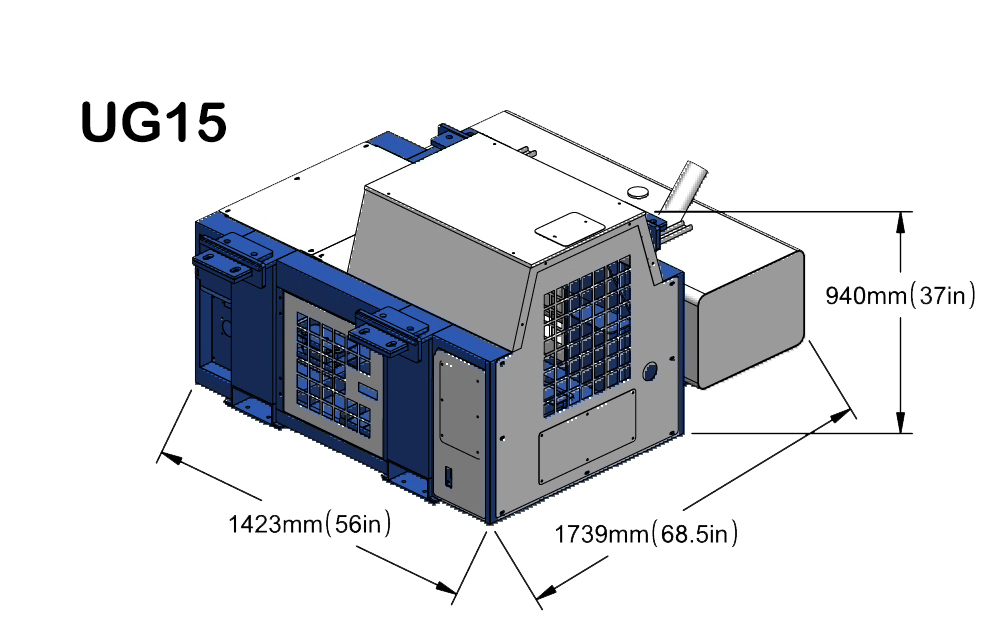 Silent undermount reefer gen-set